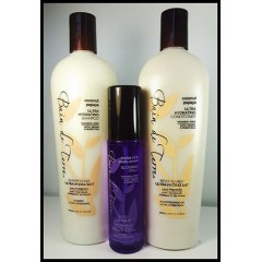 Bain de terre coconut papaye trio shampooing, revitalisant, spray brillance 400 ml