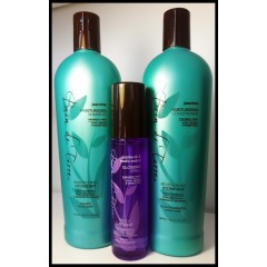 Bain de terre jasmine trio shampooing, revitalisant, spray brillance 400 ml